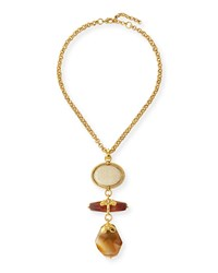 Triple Drop Pendant Necklace 24' Jose And Maria Barrera Gold