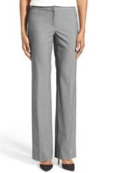 Women's Halogen Grey Tone Stretch Suit Pants Grey Suiting Pattern