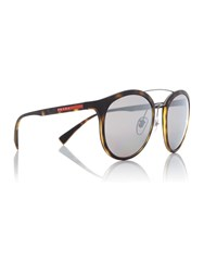 Prada Linea Rossa Havana Rubber Ps 04Rs Phantos Sunglasses