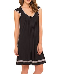 Ellen Tracy Plus Yours To Love Short Sleeve Chemise Black