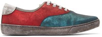 Marc Jacobs Red Distressed Metallic Sneakers