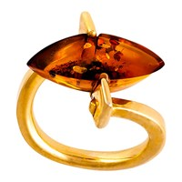 Be Jewelled Marquise Amber Ring Cognac