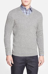 Men's Big And Tall John W. Nordstrom Cashmere V Neck Sweater Grey Driftwood