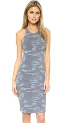 Monrow Camo Sporty Tank Dress Green Grey
