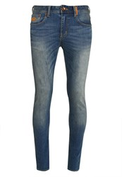Superdry Slim Fit Jeans Vintage Mottled Blue