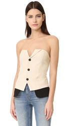 Laveer Snap Up Tux Bustier Ivory Black