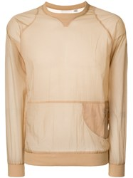 Cottweiler Sheer Side Zip Sweatshirt Nude And Neutrals