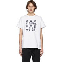 Engineered Garments White And Navy Text T Shirt