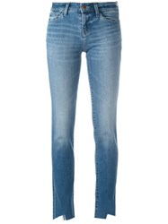 J Brand Cut Out Detail Jeans Blue