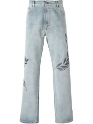 Golden Goose Deluxe Brand Embroidered Jeans Grey