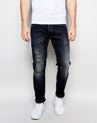 United Colors Of Benetton Mid Blue Jeans In Slim Fit Navy