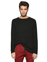 Diesel Viscose And Wool Blend Rib Knit Sweater