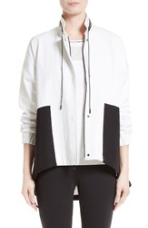St. John Women's Collection Stretch Tech Twill Colorblock Jacket