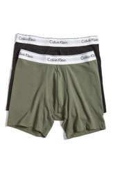 Calvin Klein Men's Modern Assorted 2 Pack Stretch Cotton Boxer Briefs