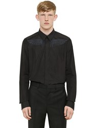 Givenchy Wings Embroidery Cotton Poplin Shirt