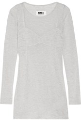 Maison Martin Margiela Ribbed Jersey Top Gray