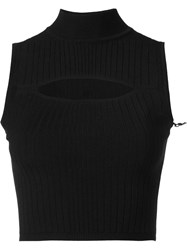 Cushnie Et Ochs Keyhole Cropped Top Black