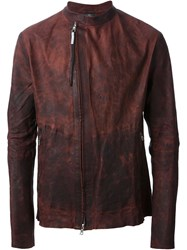 Isaac Sellam Experience Double Zip Distressed Jacket Red