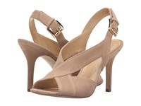 Michael Michael Kors Becky Sandal Dark Khaki Kid Suede Women's Dress Sandals Beige