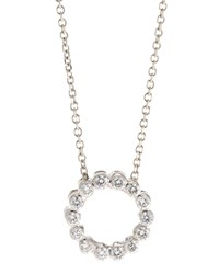 Diana M. Jewels 14K Diamond Circle Pendant Necklace 1.0Tcw