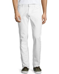 7 For All Mankind Slimmy Straight Leg Jeans Clean White