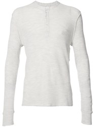 Ovadia And Sons Henley Jumper Men Cotton Cupro Merino Xl White