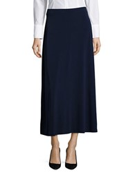 Nipon Boutique Solid Fit And Flare Skirt Indigo