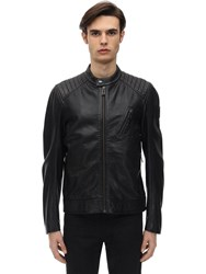 Belstaff V Racer 2.0 Tumbled Leather Jacket Black