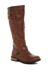 N.Y.L.A. Bootwide Tall Shaft Boot Brown