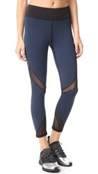 Michi Radiate Crop Leggings Navy