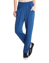 Bcbgeneration Draped Pocket Jersey Harem Pants Blue