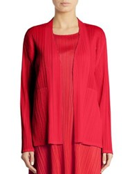 Issey Miyake Open Front Pleated Cardigan