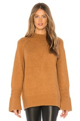 J.O.A. Mock Neck Sweater Brown