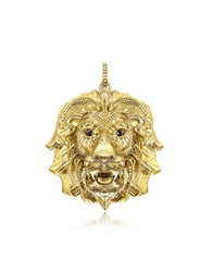 Thomas Sabo Necklaces 925 Sterling Silver And 18K Yellow Gold Lion Pendant W Black Zirconia