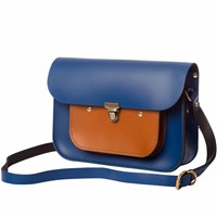 N'damus London Navy And Tan Leather Mini Pocket Satchel Blue