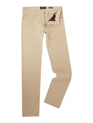 7 For All Mankind Men's Slimmy Slim Fit Luxe Performance Colour Jeans Beige