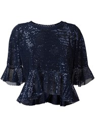 Dondup Sequin Embellished Blouse Blue