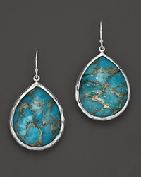 Ippolita Sterling Silver Wonderland Large Teardrop Earrings In Bronze Turquoise No Color