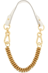 Finds Moxham Snipe Gold Plated And Leather Necklace