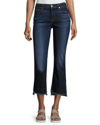 7 For All Mankind Cropped Boot Jeans W Step Hem Indigo