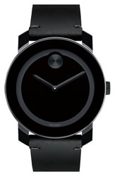 Movado Men's 'Bold' Leather Strap Watch 42Mm