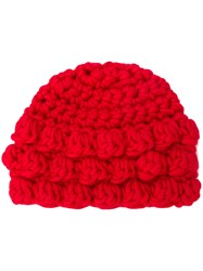 P.A.R.O.S.H. Knitted Beanie Hat Red