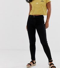 New Look Petite Skinny Jeans In Black Blue