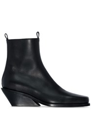 Ann Demeulemeester Slanted Wedge Ankle Boots Black