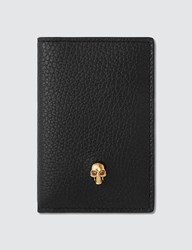 Alexander Mcqueen Grain Leather Card Holder Black