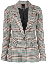 Smythe Checked Blazer Brown