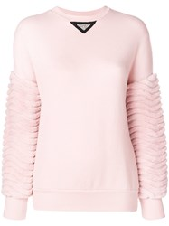 Mr And Mrs Italy Panelled Sweater Pink And Purple