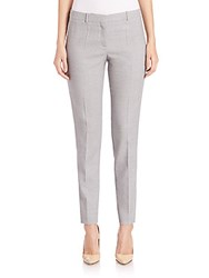 Hugo Boss Tiluni1 Slim Wool Pants Silver