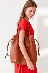 Urban Outfitters Drawstring Tote Bag Brown