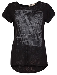 Garcia Women Printed Top Black